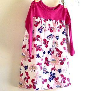 TEA Unique Long Sleeve 6 12 MO Girl Dress Lotus